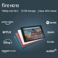 NEW Amazon Fire HD 10 Tablet 32 GB (9th Gen) - Black White Blue Plum COLORS