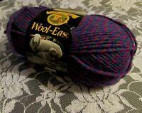 NEW LION BRAND WOOL-EASE Purple Chelsea Twist Yarn Acrylic Wool 85g Turkey 192