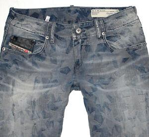 Diesel Damen Jeans GRUPEE-ZIP Super Slim Skinny W28 L32 blau