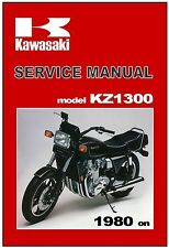 KAWASAKI Workshop Manual KZ1300 Z1300 1980 1981 1982 and 1983 Service and Repair