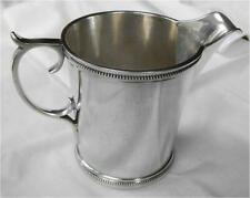 c1860 Boston Coin Silver Beaded Pitcher Haddock Lincoln & Foss 193g