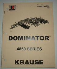 Krause 4850 Dominator Disc Chisel Ripper Owners Operators Parts Manual Original