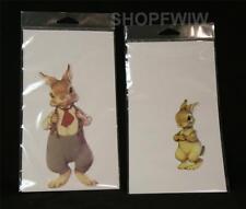 Hopper Family Bunny Rabbit Vintage Style Paper Dolls Set Fred and Bobby Hopper