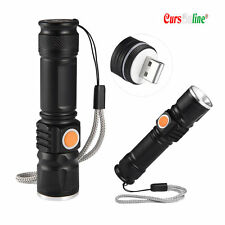 Mini Torcia Tascabile Luce Led Cree XM-L T6 Zoom Potentissima Ricaricabile USB