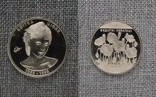 """Kvitka Cisyk, Medal, 1953-1998, Poppy Flowers, Famous Ukrainians, Metal, 1 1/2"""""""