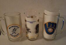 Milwaukee Brewers MLB Glass Mugs Vintage 1970s (3)