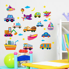 Cute Cartoon Cars Wall Sticker Vinyl Decal Kids Nursery Baby Decor Art Mural DIY