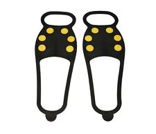 1pair 6 Teeth Ice Snow Non-Slip Spikes Shoes Boots Grippers Crampon Walk Cleats
