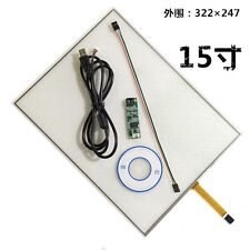 "15"" 4 Wire Resistive Touch Screen Panel Kit (4:3) 15"" LCD TFT Monitor #H887 YD"