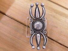 Sterling Silver Navajo Ketoh Design Ring Size 7.75 By Calvin Martinez