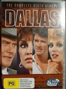 DALLAS The Complete Sixth Season DVD 5 Disc Good Cond Region 4 Free Shipping