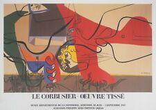 [AFFICHE D'ART] Le CORBUSIER : Présence (Homme et Taureau) # Aubusson, 1987