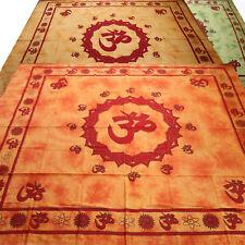 Tagesdecke Bettüberwurf Baumwolle Om Shanti Batik Wandbehang Dekotuch hippie