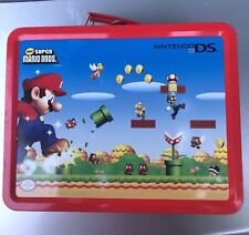 Nintendo DS Super Mario Bros HTF Tin Metal Lunch Box Case