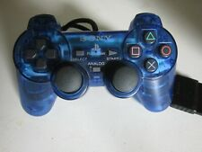 Official Sony PlayStation 2 SCPH 10010 Blue Dualshock 2 Controller Original