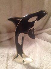 "*mid-century ABRAHAM PALATNIK 5"" ORCA / KILLER WHALE modern acrylic sculpture"