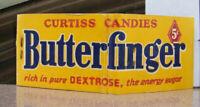 Vintage Matchbook Q6 Classic Complete Curtiss Candies Butterfinger Candy Bar