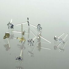 Silver Plastic Stud Earrings Jewelry Selection Pack 24 Pairs Mix Color