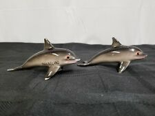 """Marineland Dolphins ,Salt & Pepper Shakers. 4"""" In Length.. Preowned."""