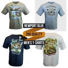 Men's T-Shirts NEWPORT BLUE- 2nd Quality-Vacation Beach Drinks NEW Reg $24.00