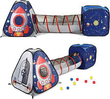 UTEX 3pc Space Astronaut Kids Play Tent, Pop Up Play Tents with Tunnels for Kids