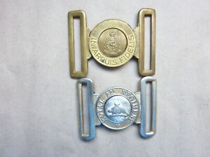 Two Canadian Brass Belt Buckles