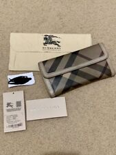 BURBERRY CHECKED SMOKED WALLET