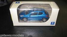 NOREV  1.64 PEUGEOT  207 METALLIC BLUE  GREAT LITTLE MODEL CAR