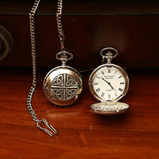 Personalized Celtic Irish Trinity Knot Pocket Watch by Mullingar Pewter