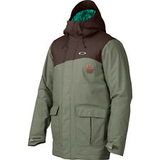 Men's Oakley Jeda Ski Snow Snowboard Jacket Worn Olive Green Size Small S