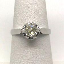 Platinum Ring with Old European Cut Single Diamond Size 6.75