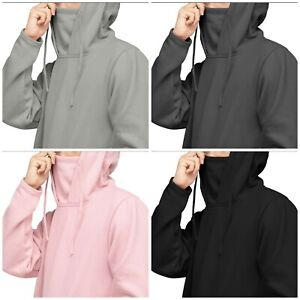 Masked Hoodie Long Sleeve Pullover Hooded Sweatshirt Fleece Face Cover Snood