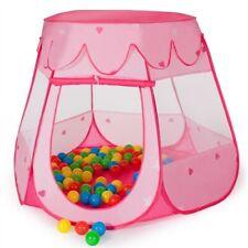 Kinderzelt Pink 100 Bälle + Tasche Bällebad Spielzelt Babyzelt Prinzessin Tent