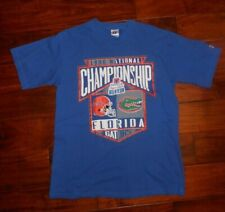 1996 FLORIDA GATORS Logo 7 National CHAMPIONSHIP TEE SHIRT BLUE SIZE L