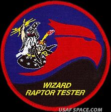 USAF 411th FLIGHT TEST SQUADRON - WIZARD RAPTOR TESTER - ORIGINAL PATCH