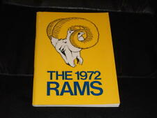 1972 LOS ANGELES RAMS NFL FOOTBALL MEDIA GUIDE PROGRAM NR MINT