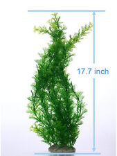 Artificial Plastic Water soft Plant for Fish Tank Aquarium Decoration Soft Green
