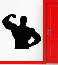 Wall Stickers Vinyl DecaI  Sports Bodybuilding Fitness Wall Decor Mural (ig014)