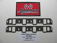 """Ford Small Block Intake Gaskets (1.300"""" x 2.140"""" Ports)"""