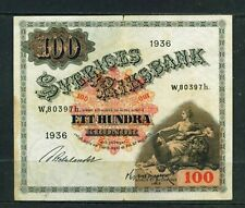More details for sweden  - 1936 100 kronor circulated banknote
