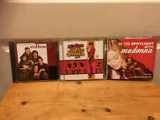 Lot of 3 CDs featuring MADONNA: WITH HONORS,THE SPY WHO SHAGGED ME,IN THE SPOTLI