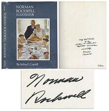Norman Rockwell Signed Illustrator Book w Inscription