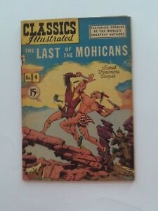 Classics Illustrated #4 - THE LAST OF THE MOHICANS - HRN 78 - VG