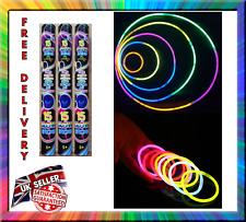 45 Glow Sticks Bracelets Necklaces Neon Colors Birthday Party Favors Disco Rave