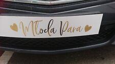 wedding car decoration  registration plate    ślub wesele rejestracja dekoracja