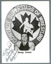 1990 WWF Superstar Wrestler Crybaby George Cannon, Autographed 8x10