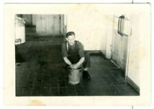 Canadian Soldier in barracks, WW2.   Original Photo