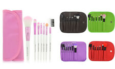 7 Piece Make Up Brush Set! with carry case! Synthetic brush fibres NEW colours