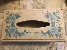 Floral Wooden Rectangle Tissue Box Cover Box