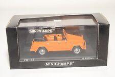 . MINICHAMPS VW VOLKSWAGEN 181 KUEBELWAGEN 1969 - 1979 ORANGE MINT BOXED